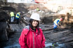 Archeolog Joanna Jarzęcka-Stąporek, której firma prowadzi badania przy Długich Ogrodach, liczy na kolejne odkrycia.