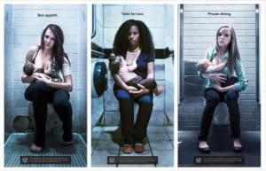 Publiczne karmienie dzieci piersią budzi kontrowersje nie tylko w Polsce. Kampania krytykująca zmuszanie matek do karmienia w toaletach jest prowadzona w wielu krajach.