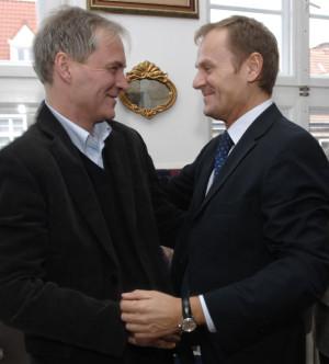 Wojciech Duda (z lewej) i Donald Tusk, to przyjaciele od czasów studiów.