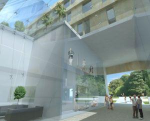 ... więc inwestor proponuje poszerzenie przewidzianego w projekcie przejścia o kilka metrów.