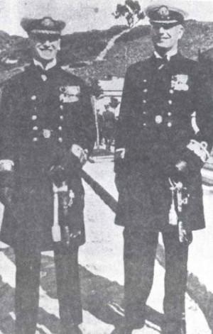 Admirałowie Józef Unrug i Jerzy Świrski