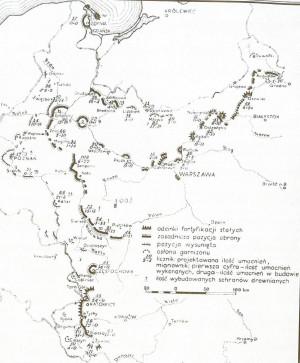 Sytuacja umocnień 28 sierpnia 1939 r.