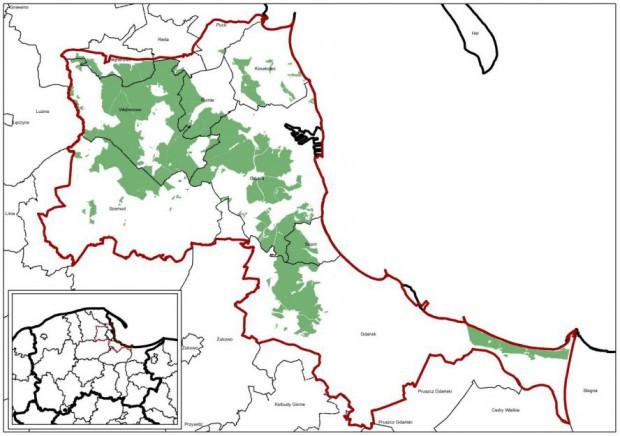 Nadleśnictwo Gdańsk obejmuje wszystkie lasy Trójmiejskiego Parku Krajobrazowego.