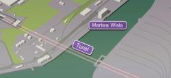Odcinek pod rzeką Martwa Wisła - tunel.