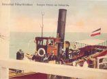 Statki dopływające do molo w Jelitkowie.