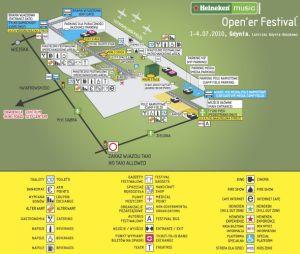 Mapka terenu festiwalu.