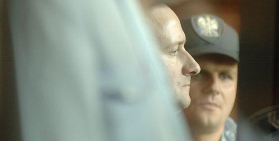 Artur Zirajewski podczas procesu w gdańskim sądzie.
