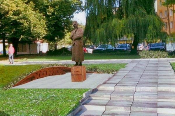 Wizualizacja pomnika Anny Walentynowicz, który ma stanąć we Wrzeszczu 15 sierpnia.