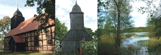 """Na szlaku """"Grzybowym""""; kościół ryglowy w Ugoszczy"""