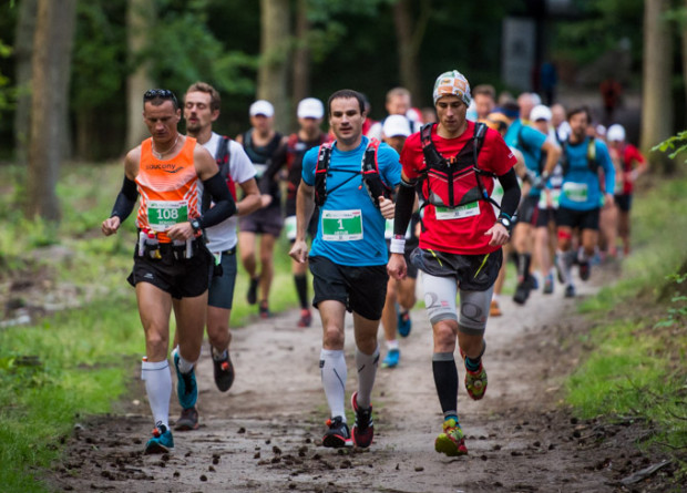 Artur Jabłoński (nr 1) trasę blisko 80 km po Trójmiejskim Parku Krajobrazowym pokonał w niespełna 8 godzin.