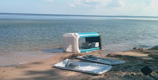 Nowoczesna architektura Toaleta z widokiem na morze IU53