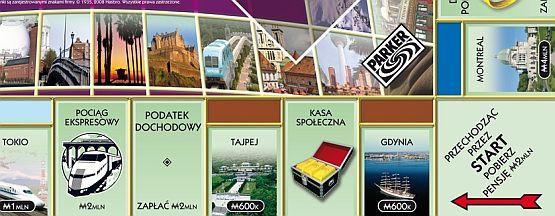 Gdynia będzie pierwszym polem na planszy najnowszej edycji gry w Monopoly.