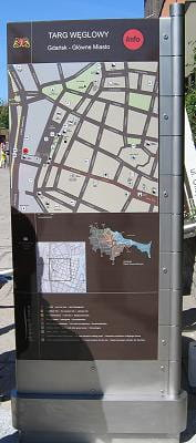 """Takie """"Wrota do miasta"""" staną w sześciu miejscach w Śródmieściu Gdańska."""