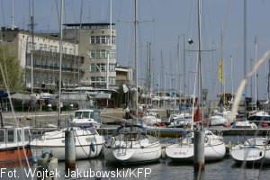 Marina jachtowa w Basenie Zaruskiego w Gdyni...