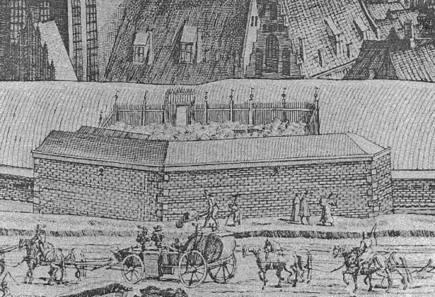 Fragment panoramy Piscatora z 1617 roku - Bastion Kot.