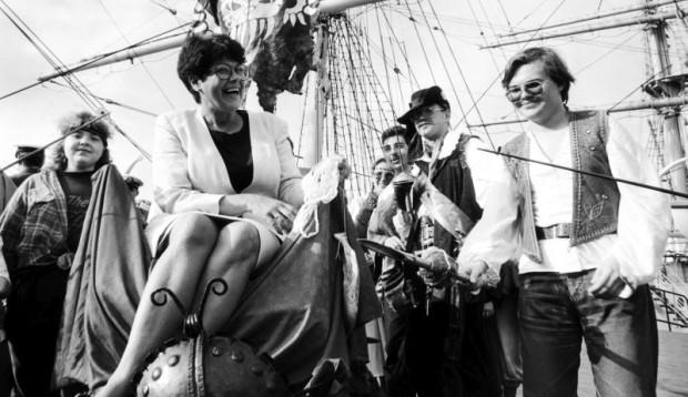 Franciszka Cegielska na obchodach Dni Morza w 1993 roku.