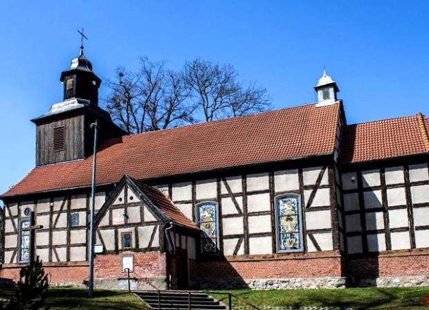 Kościół szachulcowy pw. śś. Jakuba i Mikołaja w Mechowie