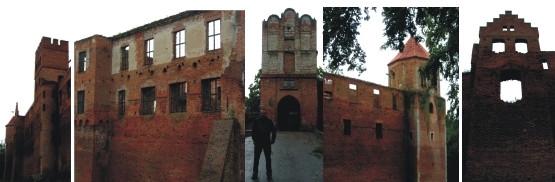 Ruiny gotyckiego zamku w Szymbarku niedaleko Iławy
