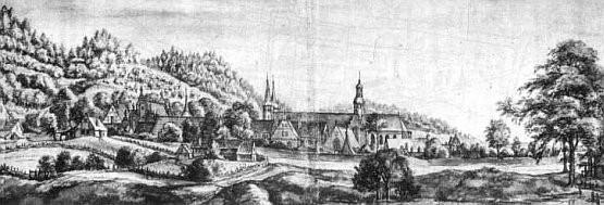 Najprawdopodobniej tak wyglądał oliwski klasztor w ok. 1660 r.