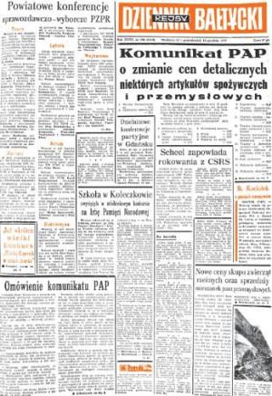 Decyzja o podwyżkach cen 46 grup towarów przekazana Polakom na dzień przed jej wprowadzeniem była iskrą, która przyczyniła się do wybuchu demonstracji robotniczych w grudniu 1970 r.