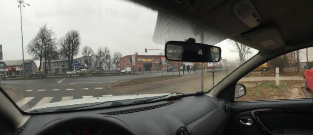 Tak wygląda skrzyżowanie ul. Chopina i al. Grunwaldzkiej okiem kierowcy.