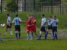 Radość po zdobytym golu często towarzyszyła w tym sezonie zawodnikom z Nowego Portu.