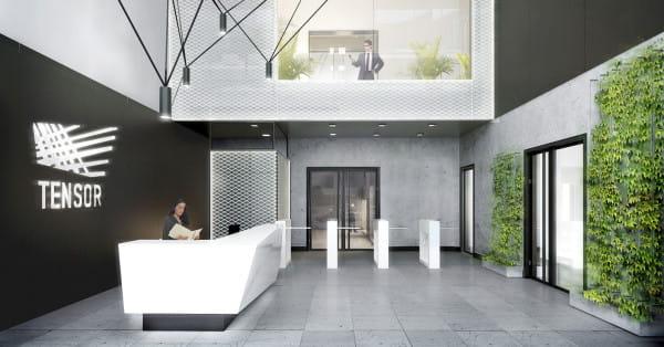 Wizualizacja tzw. strefy wejścia do budynku.