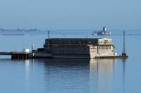 Formoza - ośrodek badawczy Kriegsmarine na terenie portu wojennego Oksywie (Torpedo Versuchsanstalt Oxhoft - TVA) testujący w latach 1940-45 torpedy akustyczne. W głębi widać bardziej znany Torpedowaffenplatz Hexengrund, czyli torpedownię w Babich Dołach.