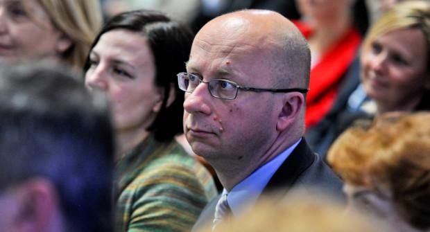 Zygmunt Zmuda Trzebiatowski jeszcze jako przewodniczący rady miasta.