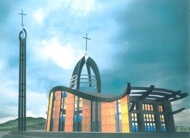 Tak będzie wyglądał kościół pw. św. Jana Pawła II na Łostowicach.