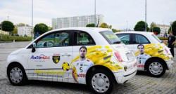 Fiaty 500 należące do siatkarzy: Marco Falaschi i Murphy'ego Troya.