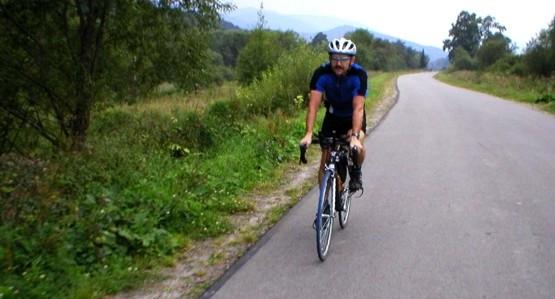 Robert Woźniak, kolega z którym wspólnie udaliśmy się na maraton Bałtyk-Bieszczady.