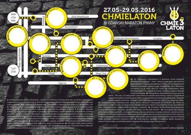 Festiwalowa mapka i karta z miejscem na pieczątki z każdego z lokali.