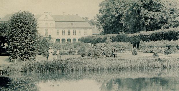 Pałac Opatów w 1893 r.