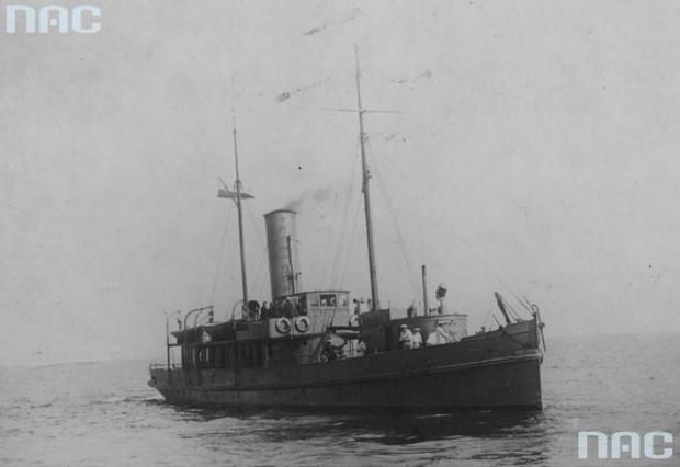 Okręt hydrograficzny Pomorzanin - jednostka kupiona dla polskiej floty przez Józefa Unruga.