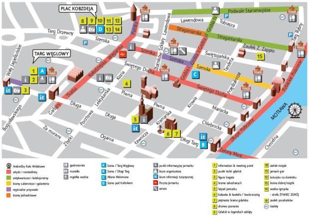Mapa 756 Jarmarku św. Dominika.