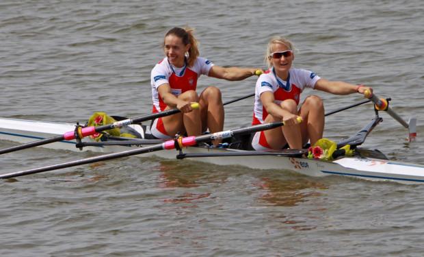Polskie mistrzynie olimpijskie z Rio de Janiero w wioślarskiej dwójce podwójnej.