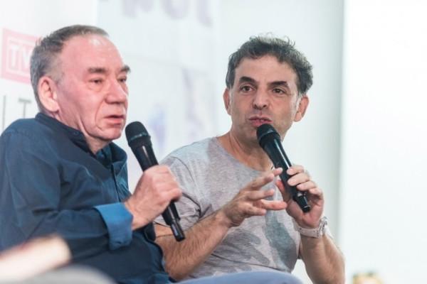 Największą gwiazdą festiwalu był pisarz Etgar Keret (po prawej), który w Sopocie obchodził urodziny, co zostało dostrzeżone przez organizatorów imprezy.