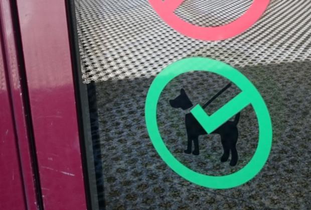 Taki znak od kilku tygodni znaleźć można na drzwiach Centrum Handlowego Batory w Gdyni.