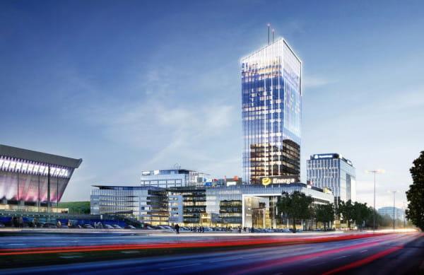 Olivia Star będzie miała 156 m wysokości (180 m wraz z masztami), a swoim kształtem nawiązywać będzie do znajdującej się obok hali Olivia.