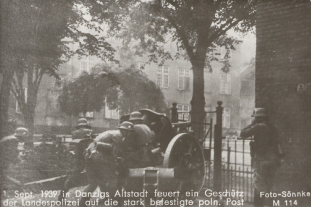 Szturm na Pocztę Polską w Gdańsku. 1 września 1939 roku.