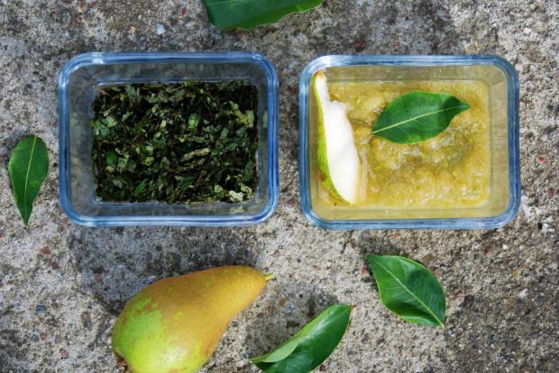 Maseczka gruszkowa nawilży i ukoi suchą cerę. Jeśli masz dostęp do liści możesz zrobić maseczkę wybielającą. Utrzyj lub zmiksuj liście, dodaj odrobinę soku z cytryny i gotowe.
