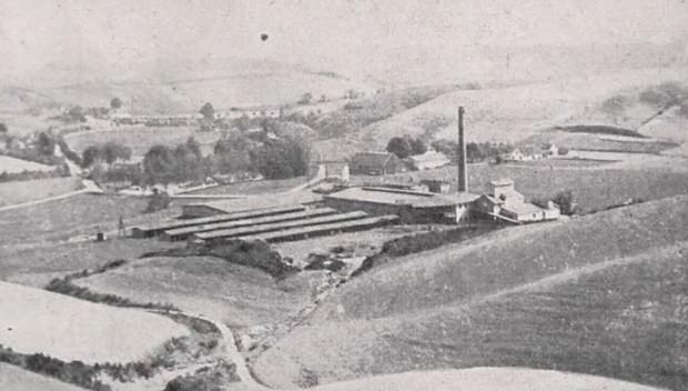 Zdjęcie cegielni w Brętowie pochodzące z informatora o Gdańsku wydanego w 1924 r.