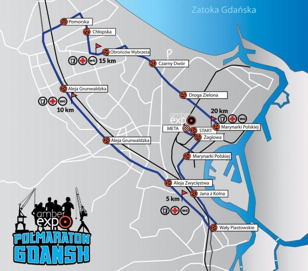 Trasa Półmaratonu Gdańsk.