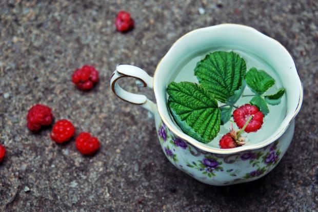 W lecznictwie wykorzystuje się także napar z liści malin.