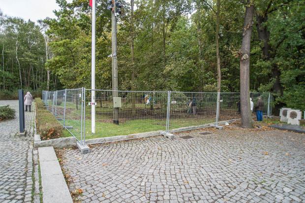 Fundamenty willi oficerskiej znajdują się tuż obok cmentarzyka ze szczątkami westerplatczyków.