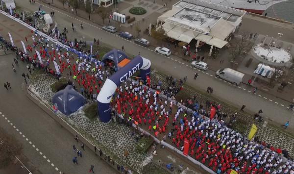 Blisko 5,5 tys. uczestników utworzyło żywą flagę.