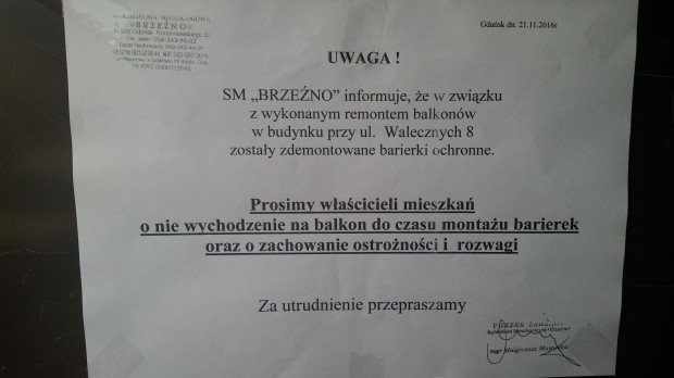 Robili Remont Elewacji Zostawili Balkony Bez Barierek