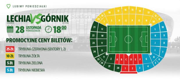 Wyjątkowa promocja. Tanie bilety na mecz Lechia Gdańsk - Górnik Łęczna.
