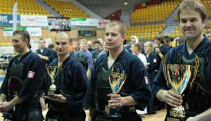Medaliści od prawej: Jan Ulmer, Rafał Jaśtak, Bartosz Barylski i Oskar Dziugieł.